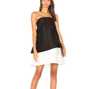 NWT Halston Heritage strapless colorblock dress